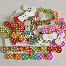 B62370: Bowknot with Strawberries 30x13mm, 50 pieces/pack [ B7 ]