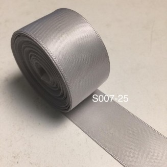 S007-25: SHELL GREY: Double Faced Satin Ribbon 25mm, 5Meter