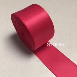 S176-25: VIRTUAL PINK: Double Faced Satin Ribbon 25mm, 5Meter