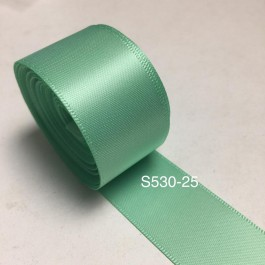 S530-25: MINT: Double Faced Satin Ribbon 25mm, 5Meter