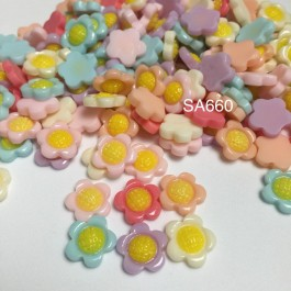 SA660: Sunflower Resin 13mm, 20 pieces [ Z28 ]