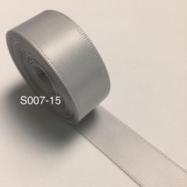 S007-15: SHELL GREY: Double Faced Satin Ribbon 15mm, 5Meter/pack