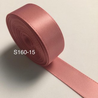 S160-15: DUSTY ROSE: Double Faced Satin Ribbon 15mm, 5Meter/pack