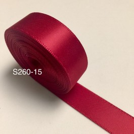 S260-15: SCARLET: Double Faced Satin Ribbon 15mm, 5Meter/pack