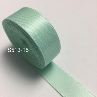 S513-15: PASTEL GREEN: Double Faced Satin Ribbon 15mm, 5Meter/pack