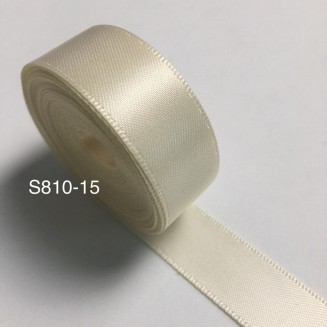 S810-15: IVORY: Double Faced Satin Ribbon 15mm, 5Meter/pack