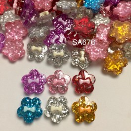 SA676: Flower with Bowknot 19.5x20mm, 20 pieces [ B1 ]