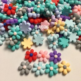 SA696: Flower Resin 16x6mm, 20 pieces [ C14 ]