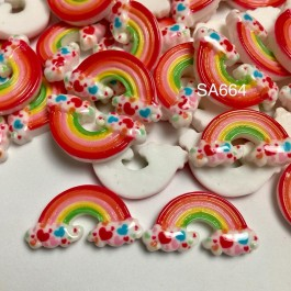 SA664: Rainbow Resin Cabochons 28x15mm, 10 pieces/pack [ A18 ]