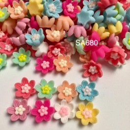 SA680: Flower Opaque Resin 13x13mm, 20 pieces [ B2 ]