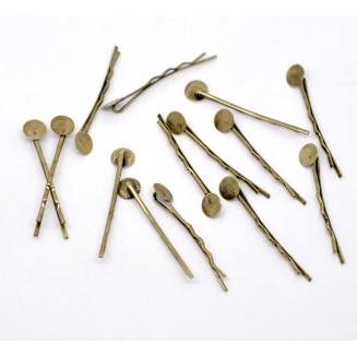 B14601: Bronze Alloy Bobby Pins (Fits 8mm Dia.) 44x1.5mm, 25 Pieces [ B16 ]