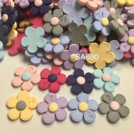 SA690: Flower Resin 26x26mm, 20 pieces [ A20 ]