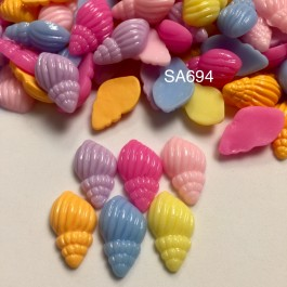 SA694: Spiral Shell Resin 21x13mm, 20 pieces [ A1 ]