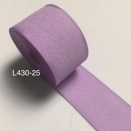 L430-25: LT ORCHID: Rib Edge Linen Ribbon 25mm, 5Meter