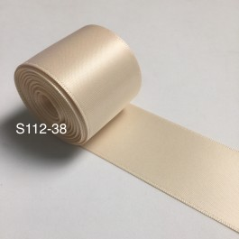 S112-38: NUDE: Double Faced Satin Ribbon 38mm, 5Meter