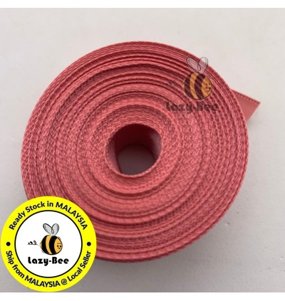 S160 DUSTY ROSE: 5 meter Double Faced Satin Ribbon Wedding DIY Craft Bow knot Perkahwinan Borong Balut Reben