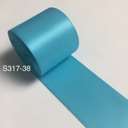 S317-38: MISTY TURQUOISE: Double Faced Satin Ribbon 38mm, 5Meter