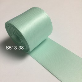 S513-38: PASTEL GREEN: Double Faced Satin Ribbon 38mm, 5Meter