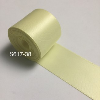 S617-38: BABY MAIZE: Double Faced Satin Ribbon 38mm, 5Meter