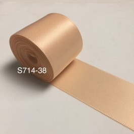 S714-38: PETAL PEACH: Double Faced Satin Ribbon 38mm, 5Meter
