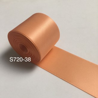 S720-38: PEACH: Double Faced Satin Ribbon 38mm, 5Meter