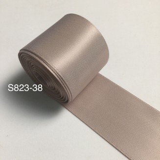 S823-38: TAUPE: Double Faced Satin Ribbon 38mm, 5Meter