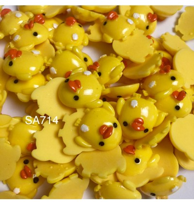 SA714: Yellow Duck 25x26mm, 10 pieces [ A2 ]