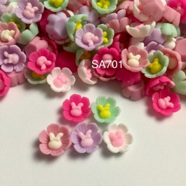 SA701: Flower with Rabbit 13x13mm, 20 pieces [ B2 ]