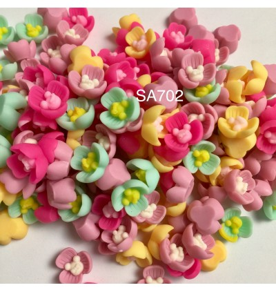 SA702: Flower with Rabbit 14x14mm, 20 pieces [ B4 ]