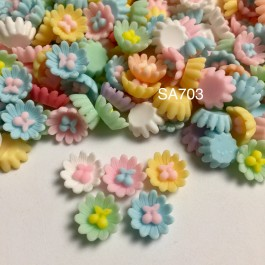 SA703: Flower with Cherry 14x14mm, 20 pieces [ B2 ]