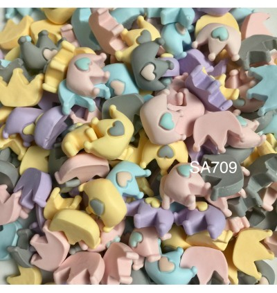 SA709: Crown with Heart 15x20mm, 20 pieces [ B9 ]