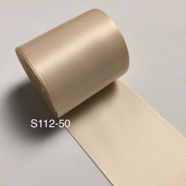 S112-50: NUDE: Double Faced Satin Ribbon 50mm, 5Meter