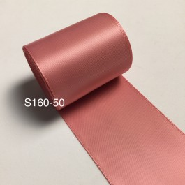 S160-50: DUSTY ROSE: Double Faced Satin Ribbon 50mm, 5Meter