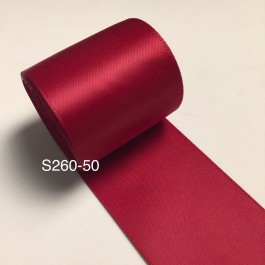 S260-50: SCARLET: Double Faced Satin Ribbon 50mm, 5Meter
