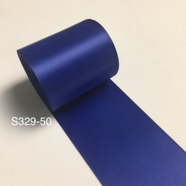 S329-50: COBALT: Double Faced Satin Ribbon 50mm, 5Meter