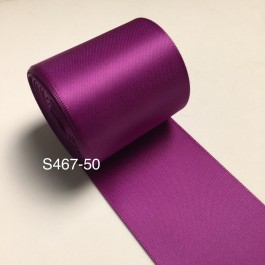S467-50: ULTRA VIOLET: Double Faced Satin Ribbon 50mm, 5Meter