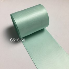 S513-50: PASTEL GREEN: Double Faced Satin Ribbon 50mm, 5Meter