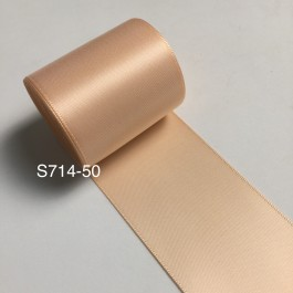 S714-50: PETAL PEACH: Double Faced Satin Ribbon 50mm, 5Meter