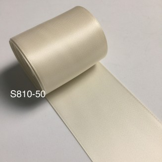 S810-50: IVORY: Double Faced Satin Ribbon 50mm, 5Meter