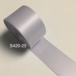 S420-25: LILAC MIST: Double Faced Satin Ribbon 25mm, 5Meter