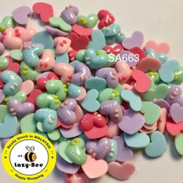 SA663: Heart With Love 17x21mm, 20 pieces [ A10 ]
