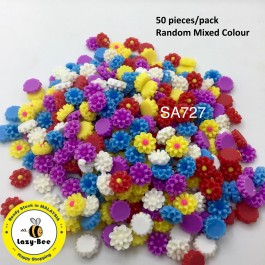 SA727: Flower Resin Cabochons 12x6mm, 50 pieces [ C19 ]