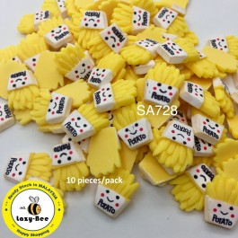 SA728: French Fries with Potato Resin 22x17mm, 10 pieces [ C2 ]