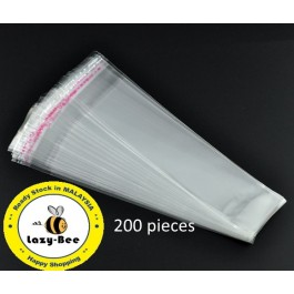 B08986: 200 Pieces Plastic Self-Seal Bags Rectangle 16x3.5cm [ C18 ]