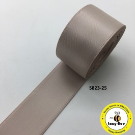 S823-25: TAUPE: Double Faced Satin Ribbon 25mm, 5Meter