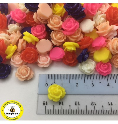 SA704: Rose Flower Resin 12mm, 50 pieces [ A9 ]