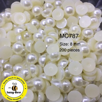 MC787: Ivory Pearl 8mm, 200 pieces [ B14 ]