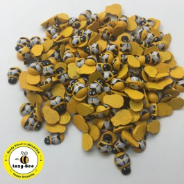 WB105: Dyed Bees Wood Cabochons 13x9mm, 50 Pieces [ B9 ]