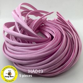 HA049: Pearl Pink: Kids Headband 10mm, 5 pieces