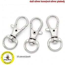 B30649B: Silver Lobster Swivel Clasps 32x13mm, 10 pieces [ A19 ]